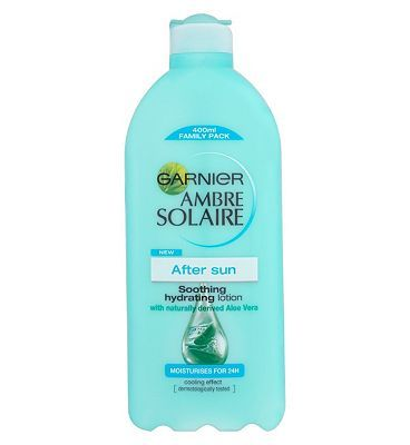 #Ambre Solaire Garnier Ambre Solaire Aftersun Skin Soother #20 Advantage card points. Soothe, cool and intensely moisturise sun-exposed skin with Ambre Solaire Aftersun Skin Soother Hydrating Milk FREE Delivery on orders over 45 GBP. (Barcode EAN=0000004598978)