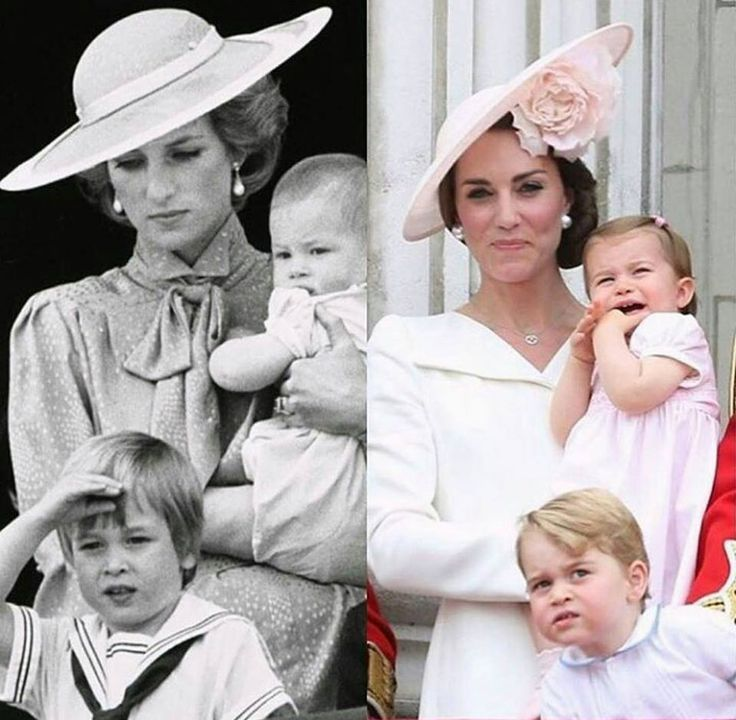 Royal Mamas!  How sad Diane looks and how happy and secure Kate is!