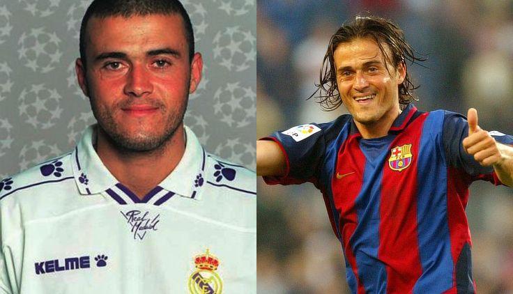Luis Enrique  Real Madrid 1991–1996 , Barcelona 1996–2004  #Luis #Enrique #Barca #Madrid