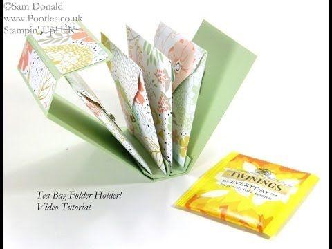 Tea Bag Holder Folder Tutorial - YouTube
