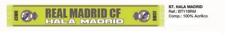 BUFANDA REAL MADRID AMARILLO  Este artículo lo encontrará en nuestra tienda on line de complementos www.worldmagic.es info@worldmagic.es 951381126 Para lo que necesites a su disposición