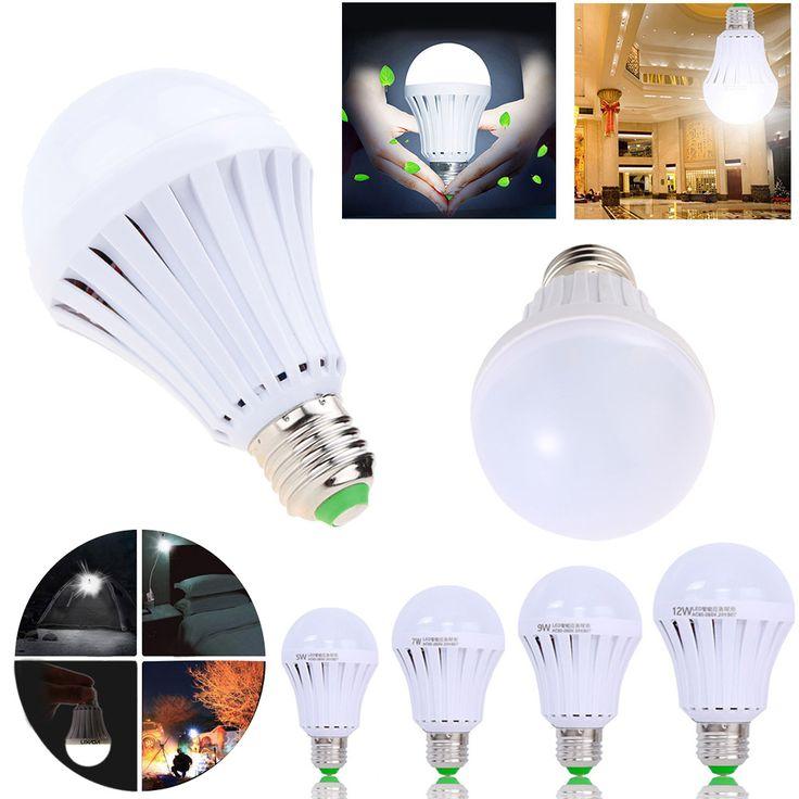 E27 Bombilla LED Inteligente 5 W 7 W 9W12W Llevó Batería Recargable Luz de Emergencia Lámpara para la Iluminación Al Aire Libre de Iluminación Bombillas linterna