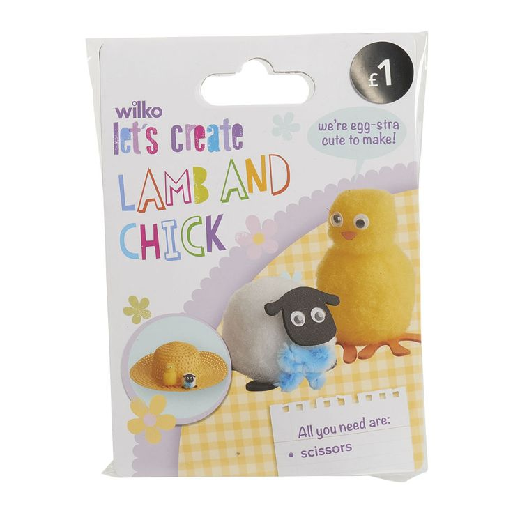 30 best wilko easter bonnet crafts images on pinterest wilko easter make your own lamb and chick 2pk negle Images