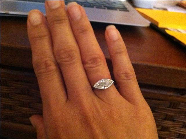 I finally did it, east west re-set of my moms marquise engagement ring from my father - Page 3 - PurseForum