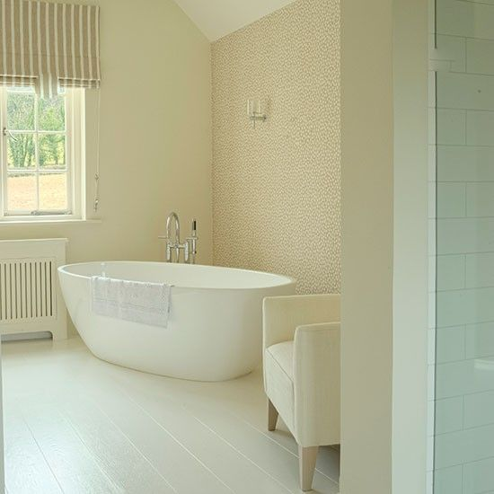 Green tiled bathroom with rolltop bath | Bathroom decorating | housetohome.co.uk