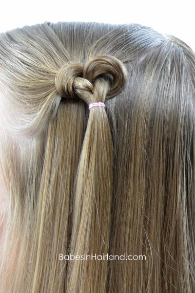 Knotted Hearts | Valentine's Day Hairstyle | Babes In Hairland