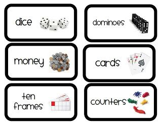 Here's a set of labels for math manipulatives.