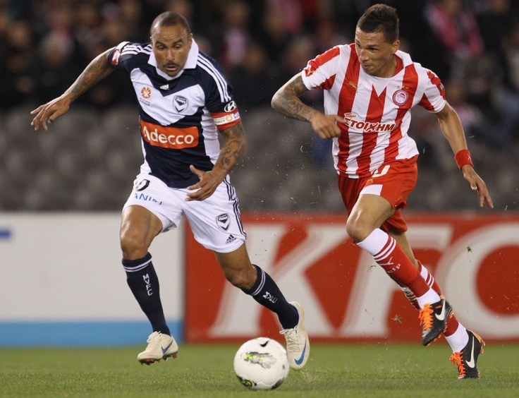 Olympiacos v Victory Pics  May 19, 2012   All the match action from Etihad Stadium as Melbourne Victory entertained Olympiacos on Saturday evening in a friendly. Pics by Getty Images.