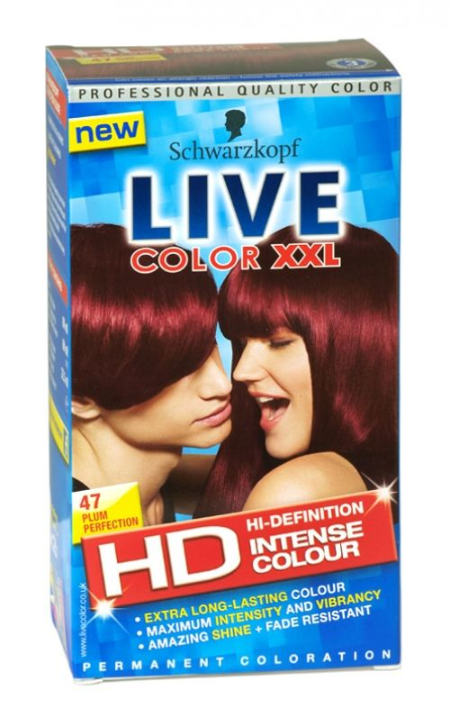 Schwarzkopf live color xxl hd hair colour 47 plum perfection