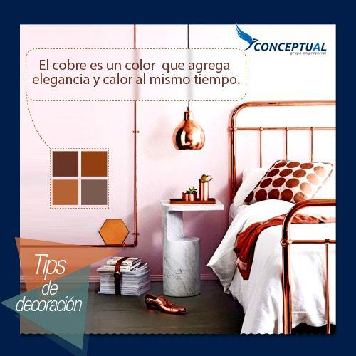¿Qué tal si agregas color a tu habitación? El color cobre podría ser una buena opción para hacerlo.