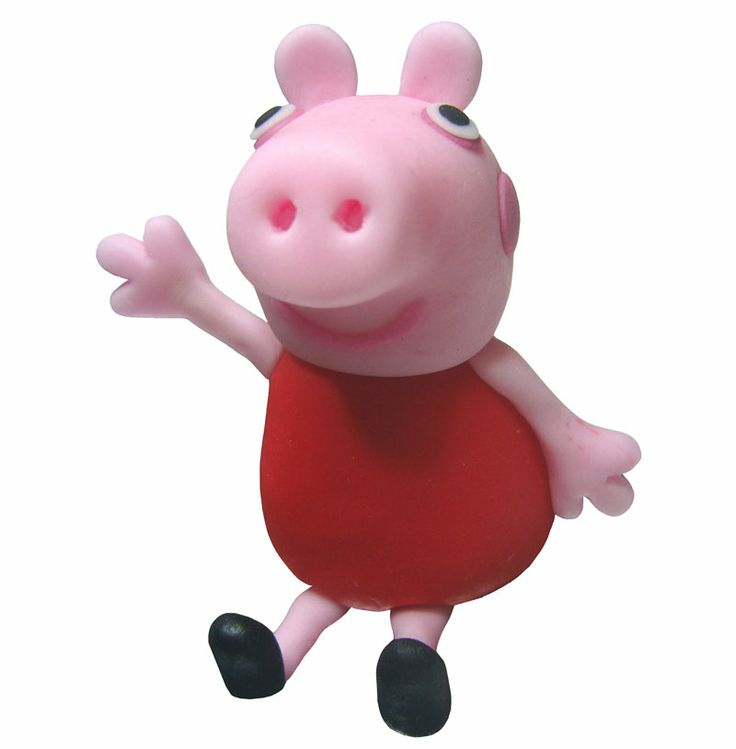 how to do : peppa pig cake topper