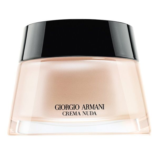 "Remember the whole ""Georgio Armani"" foundation debacle that took place on Kim's Twitter over the summer? The product in question was Giorgio Armani's Shaping Cream, which has since been discontinued, but was replaced with the Crema Nuda Tinted Cream as a comparable substitute."