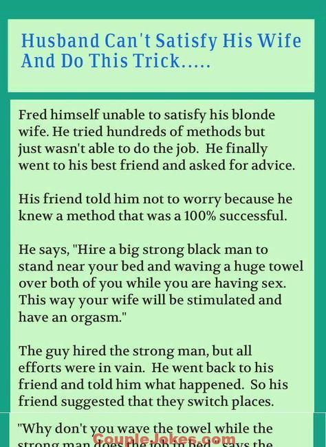 Sex advice stories for husband something