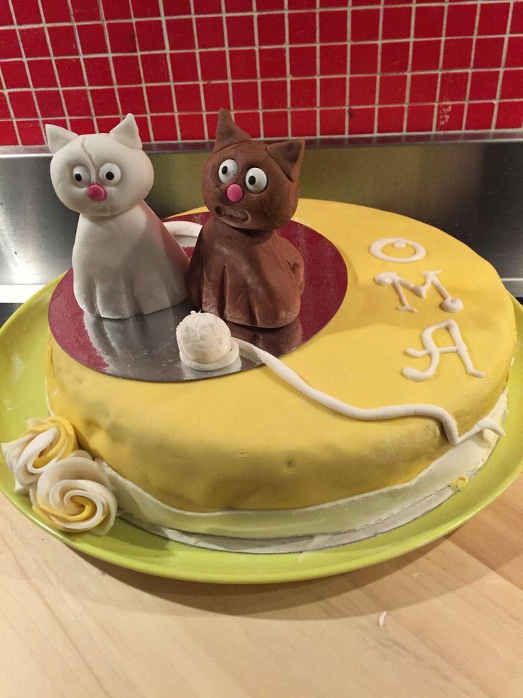 Katten taart voor oma