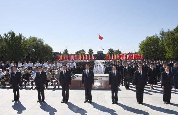 Latest Chinese News Lesson: Xi urges Japanese reflection on war anniversary Xi Jin Ping shuō rìběn. 说  日本 。 www.gurulu.com