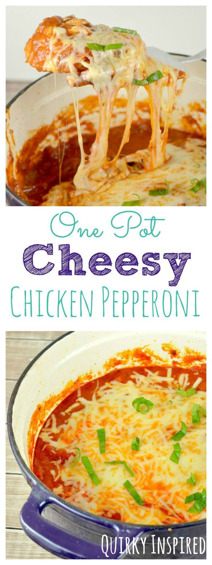 Looking for an easy way to get dinner done? Check out this one pot recipe! One pot Cheesy Chicken Pepperoni, plus great crafts to repurpose those Classico jars when you are done! #ad