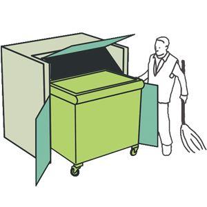 контейнерная площадка для мусора герметичного типа Экобокс