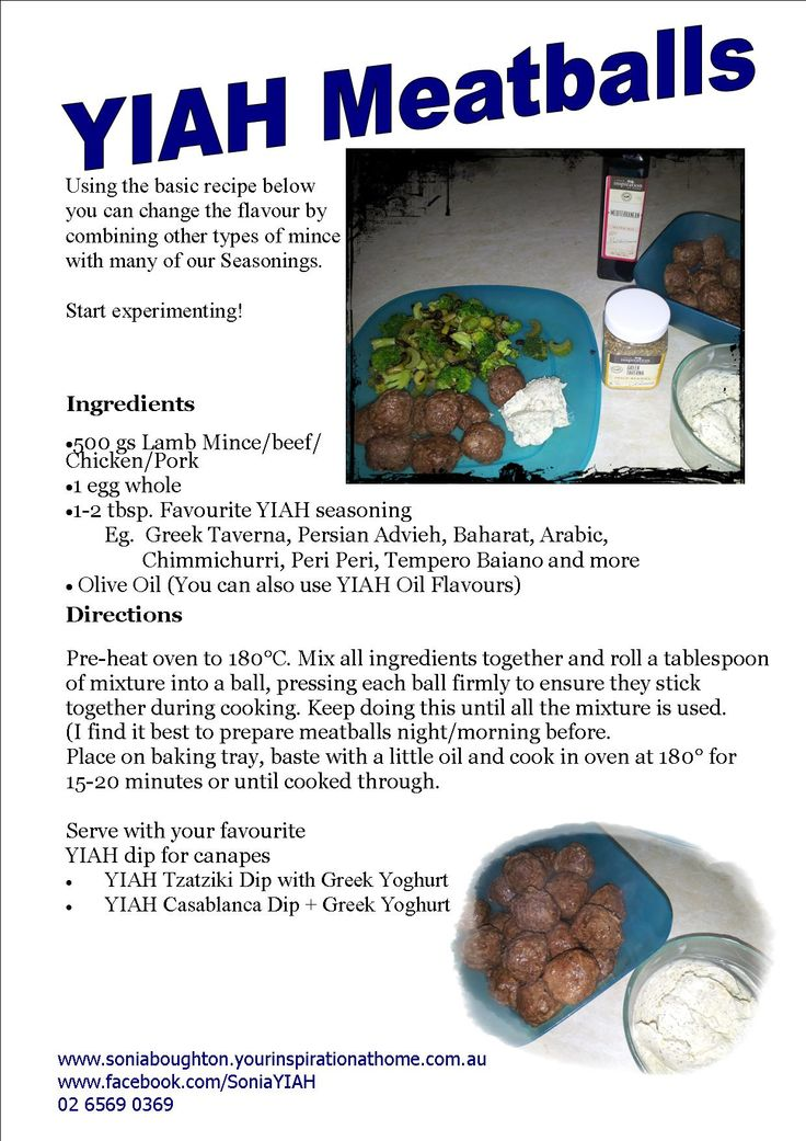 Quick & Easy - Meatball recipe using your favourite YIAH Spice Flavouring