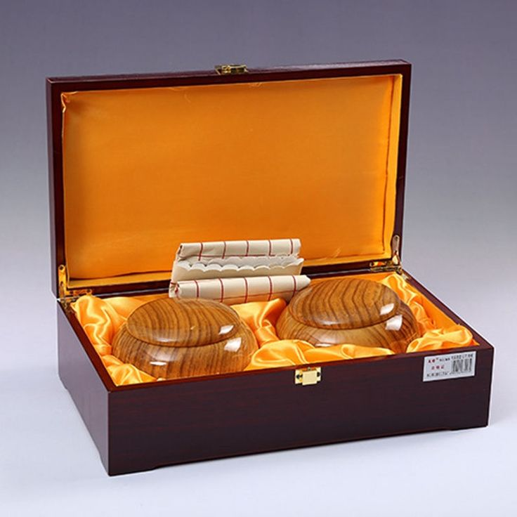 109.50$  Buy now - http://alihkn.worldwells.pw/go.php?t=32694531774 - National treasure new Yunzi go chess suits Carved gold double plate go chess wood chess box  go chess set gift