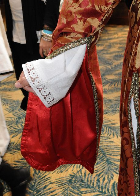 Traditional Greek costume sleeve detail