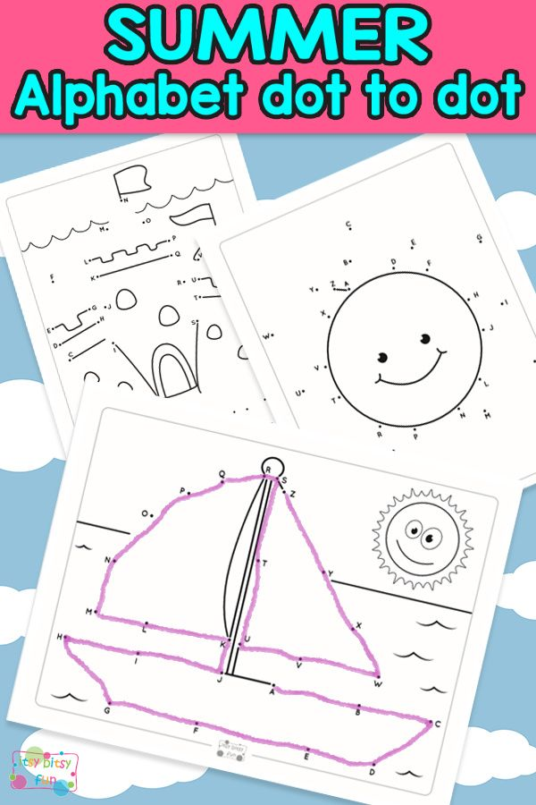 summer alphabet dot to dot worksheets vacations handwriting activities summer worksheets. Black Bedroom Furniture Sets. Home Design Ideas