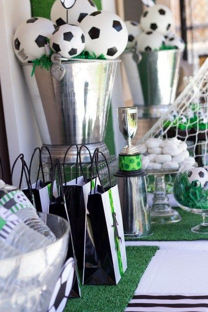Best ideas about soccer centerpieces on pinterest
