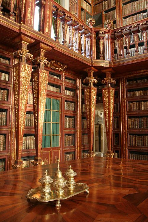 """Biblioteca Joanina"" at Coimbra, Portugal."