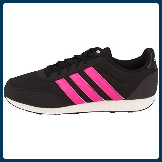 Adidas Schuhe V Racer 2.0 W Damen core black-shock pink-chalk white (BC0112), 39 1/3, schwarz - Schnürhalbschuhe für frauen (*Partner-Link)