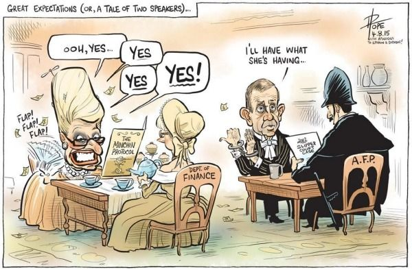 "THE COALITION POLICY OF "" FAIR PLAY"" Cartoon by DAVID POPE."