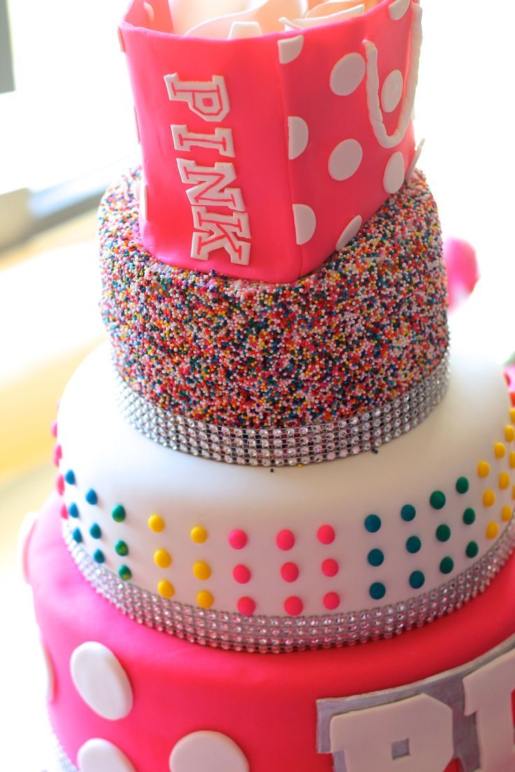 In law in addition free pink birthday cake in addition bake shop party - Vs Pink Cake