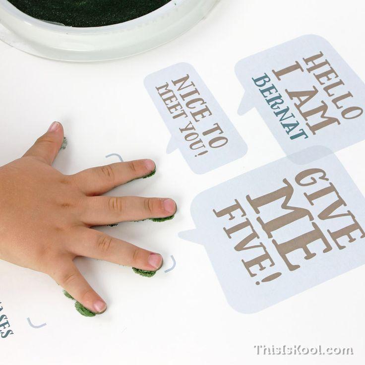 Lámina infantil - GIVE ME FIVE | This Is Kool © | www.thisiskool.com