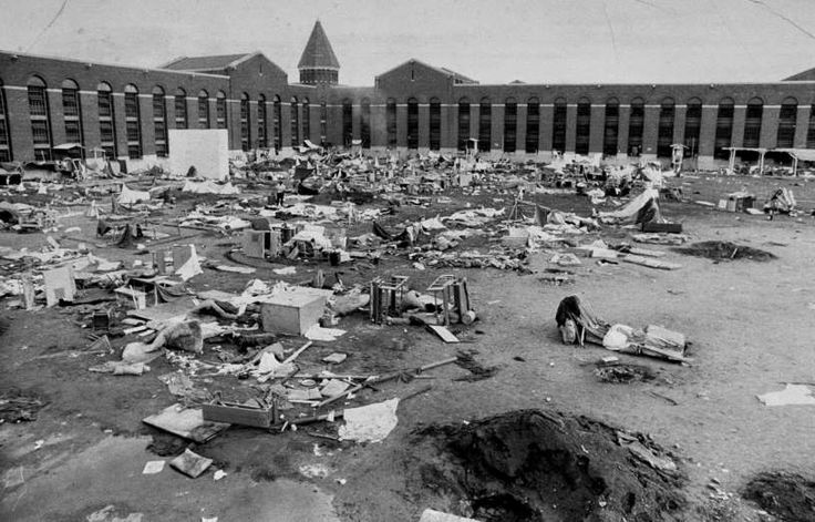 September 13,1971: ATTICA PRISON RIOT ENDS - A four-day riot at Attica Prison comes to a violent end as law enforcement officials open fire, killing 29 inmates and 10 hostages and injuring many more.