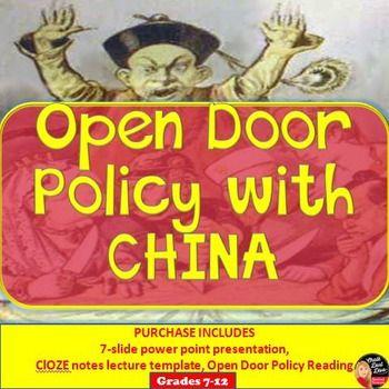 Open Door Policy Map