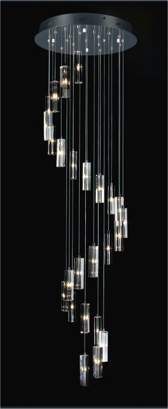 Long Drop 25 Light Glass u0026 Chrome Pendant · Lighting IdeasHall LightingDecorative ... & 67 best Decorative Lighting - Glitzy u0026 Exciting images on Pinterest ...