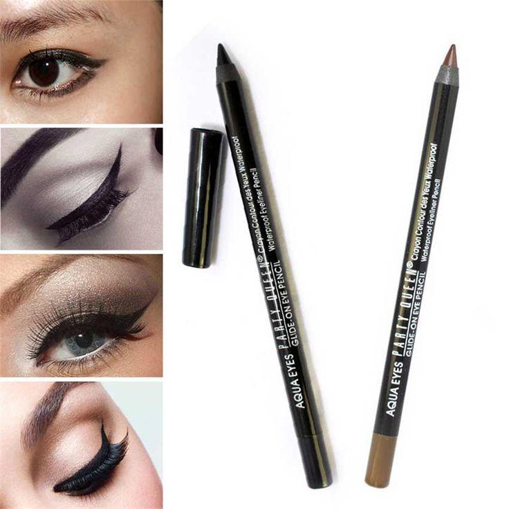 1 pz Regina Del Partito Nero/Marrone Impermeabile Penna Eye Liner Smooth Gel Eyeliner Pencil Marca di Cosmetici Trucco Smoky Occhi Lungo della durata di