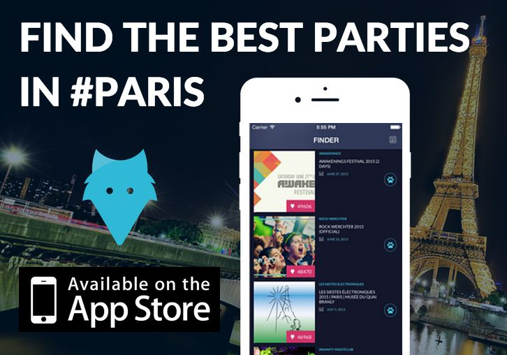 Download our #iOS #app and find the best #parties and #nightlife #events in #Paris!