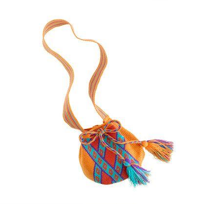 Mochila for the little ones. Crewcut Girls bags. www.wayuutribe.com $75.00 #mochila #wayuutribe #Bags #handmade