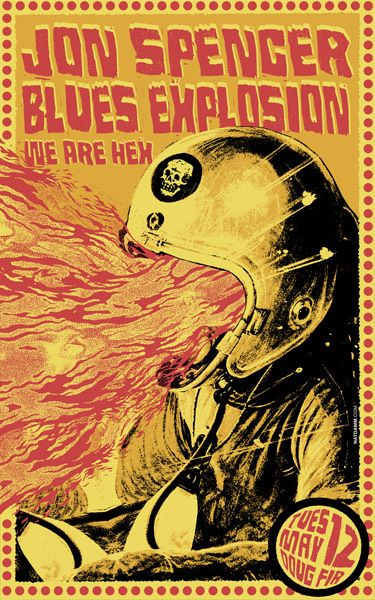 GigPosters.com - Jon Spencer Blues Explosion - We Are Hex