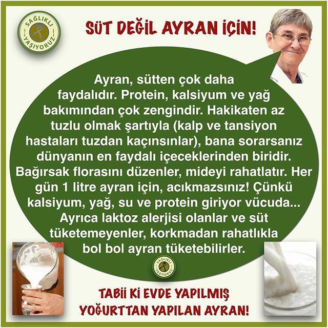SÜT DEĞİL AYRAN İÇİN! TABİİ Kİ EVDE YAPILMIŞ YOĞURTTAN YAPILAN AYRAN! #süt…