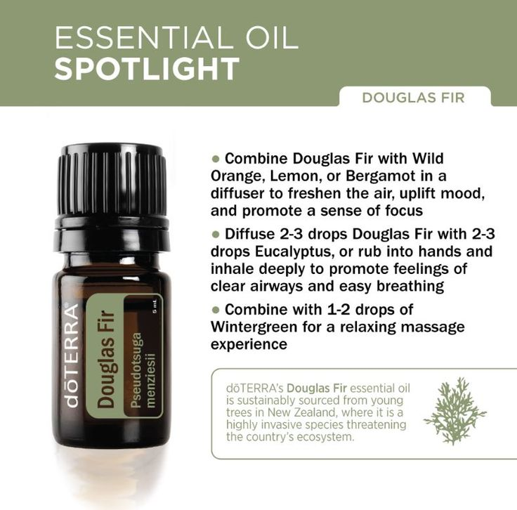 Douglas Fir has a unique chemical composition that's particularly rich in beta-pinene, contributing to its ability to promote feelings of clear airways. Douglas Fir can also be used to purify the skin and promote a positive mood. Blending Douglas Fir with citrus oils will create an uplifting environment while freshening the air. To learn more about oils or to become a Wellness Advocate, visit www.mydoterra.com/oilswithmagen or my Facebook page, www.facebook.com/oilswithmagen