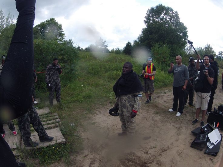 Kevin Hart prepares for Paintball competition with Drake.  Toronto