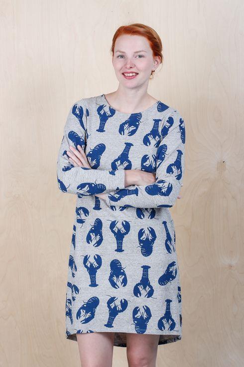 EM Dagny Dress Lobster - emma och malena