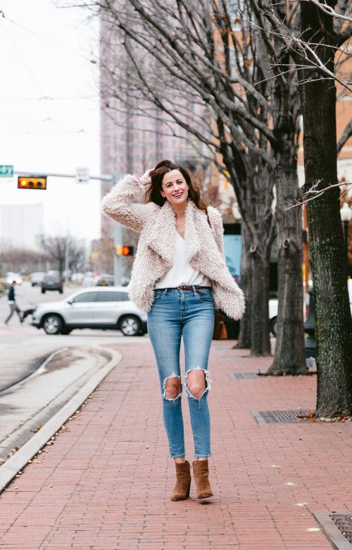 #Jacket #FauxFur #FauxFurJacket #FurJacket #BetseyJohnson #Tank #TankTop #Cami #Camisole #WhiteCami #WhiteTop #WhiteTank #VNeckTop #Topshop #Jeans #RippedJeans #SkinnyJeans #DistressedJeans #HighRiseJeans #Levis #Boots #AnkleBoots #Booties #SuedeBoots #SamEdelman #ootd #onlineshopping #lookave #onlineshopping #streetstyle #style #fashion #outfit @themilleraffect @xobetseyjohnson @topshop @levisbrand @SamEdelman