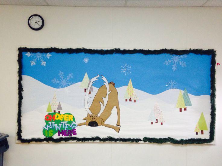 Winter/Christmas Frozen Bulletin Board