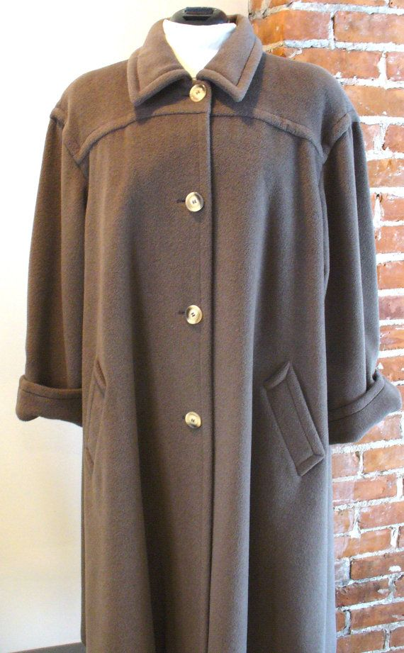 Marina Rinaldi Made in Italy Wool Swing Coat by EurotrashItaly, $165.00