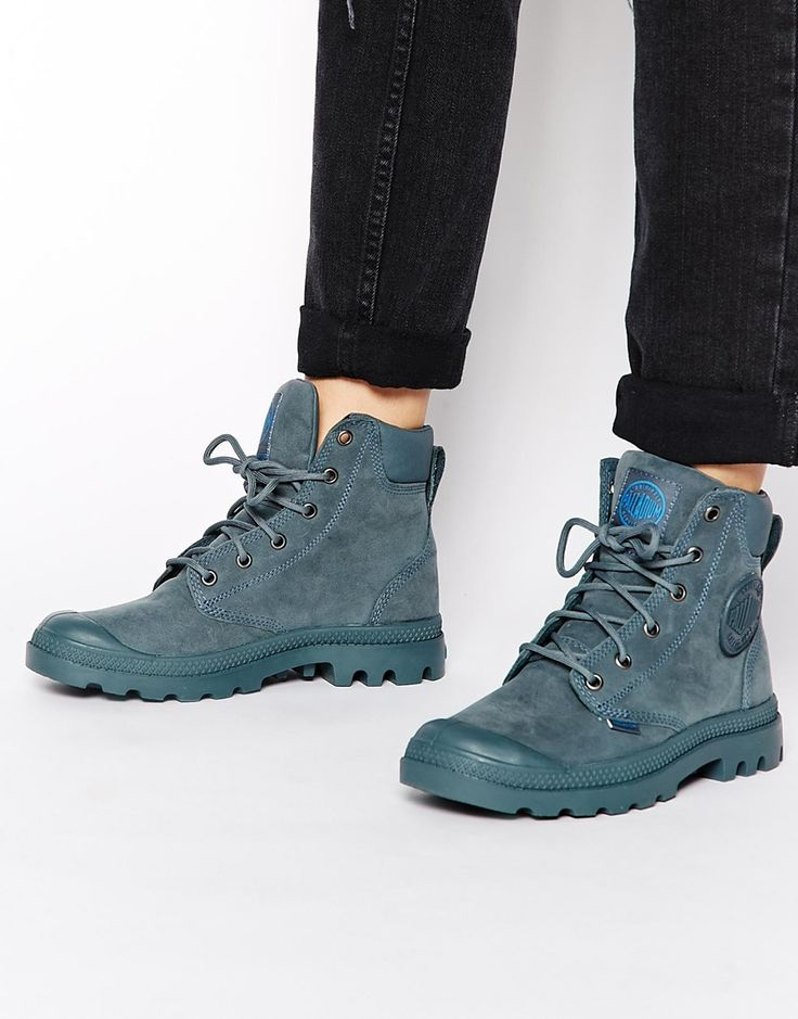 Palladium+Pampa+Cuff+Waterproof+Nordic+Blue+Boots