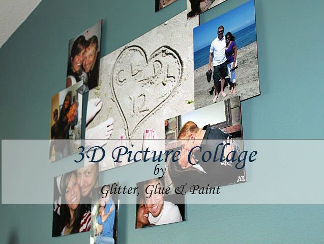 3D Picture Collage @glitterglueandpaint.com