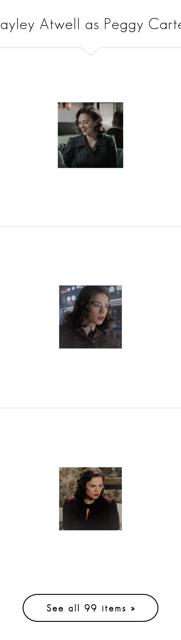 """""""Hayley Atwell as Peggy Carter"""" by imawkwardhey ❤ liked on Polyvore featuring peggy carter, marvel, hayley atwell, avengers/agent carter icons, icon, comic, avengers, costumes, avengers costumes and captain america avengers costume"""