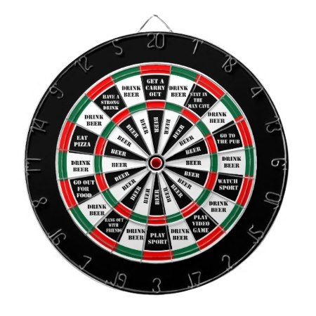 Should I have a beer - decision maker Dartboard With Darts - click to get yours right now!