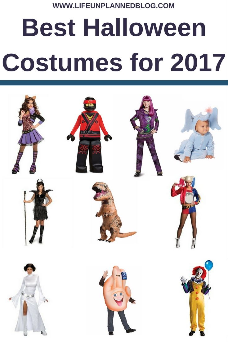 Simplify your Halloween costume shopping this year. I've brought you the 10 best Halloween costumes for 2017! Costumes for the whole family!